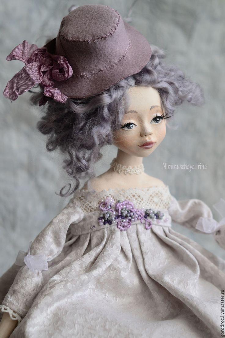 Купить Елизавета Авторская будуарная куколка! - сиреневый, Будуарная кукла, кукла ручной работы