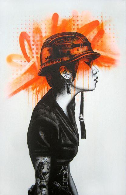 URBAN FEMALE GRAFFITI BY FIN DAC