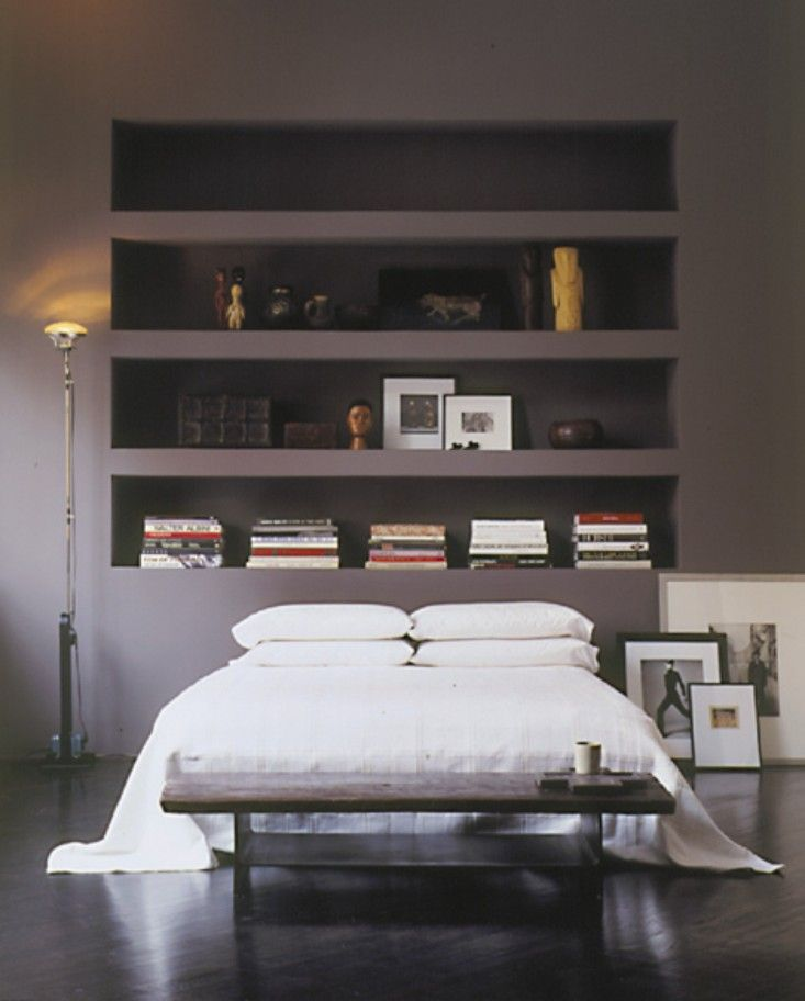 25 best ideas about storage headboard on pinterest for Bookshelf behind bed