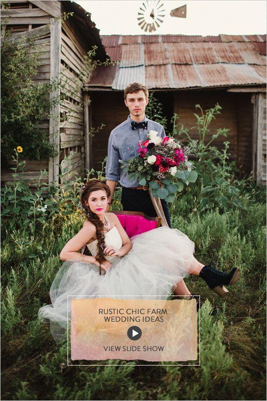 Rustic Chic Farm Wedding Ideas @weddingchicks