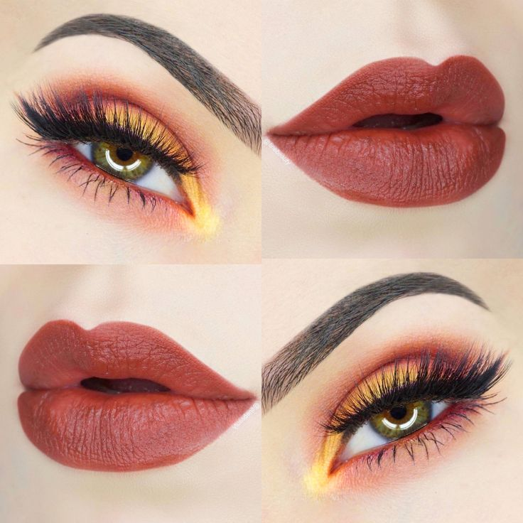Get this gorgeous eyeshadow and lipstick look! This is a look beautiful on all eye colors! Look includes... 1) BANANARAMA 2) HEART STRINGS 3) SUCK MY KISS 4) CINNA SWAG Lipstick **********************