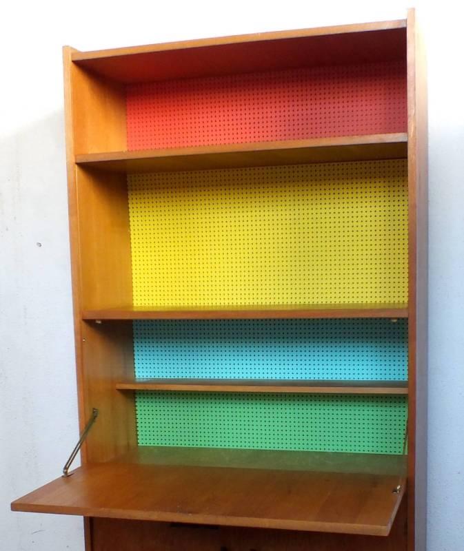 ebay beau s cr taire et meuble tag re ann es 50 60 tr s bon etat belles couleurs. Black Bedroom Furniture Sets. Home Design Ideas