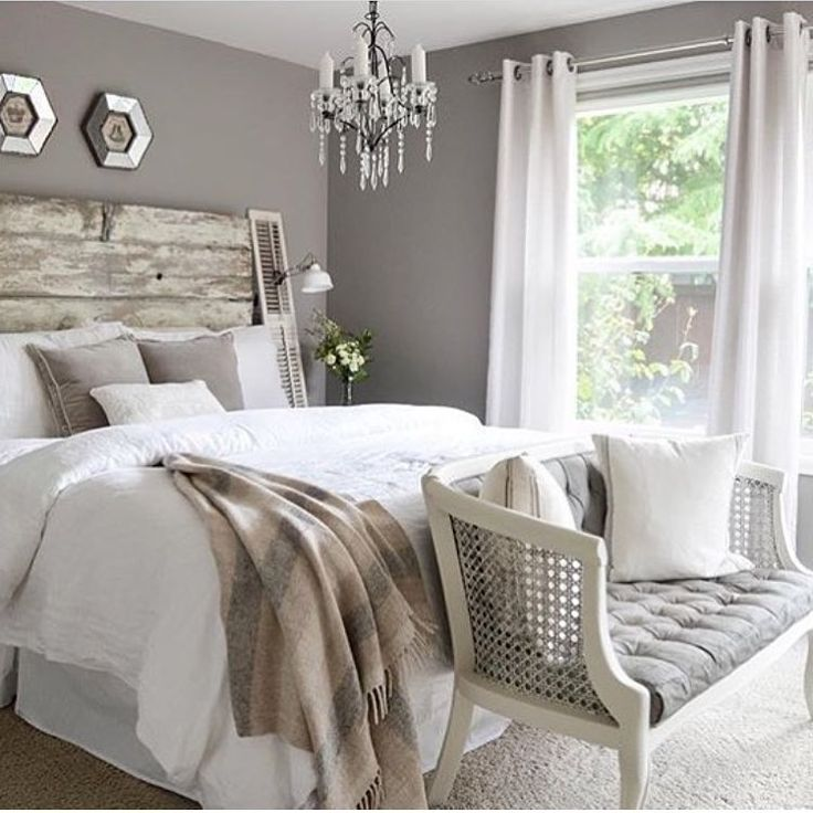 See this Instagram photo by  shadesofblueinteriors   345 likes   Distressed  HeadboardGray Wall ColorsBedroom. Best 25  White gray bedroom ideas only on Pinterest   Grey