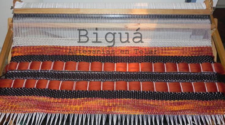 Diferentes texturas y colores para un diseño exclusivo y original. Telar María.