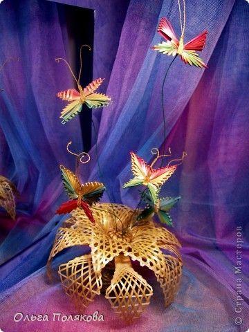 Weaving Flora borboleta Straw