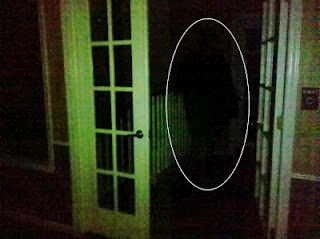 Another stellar looking shadow person caught at the top of the stairs! Or is it just a coat rack lol! :)