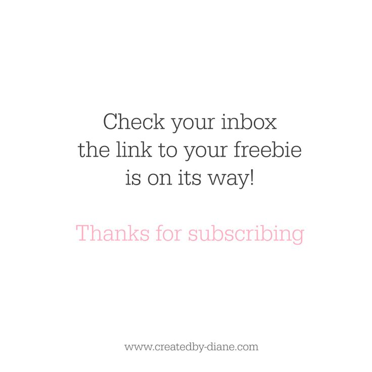 check your inbox | Created by Diane