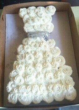 Bridal shower cupcake ...