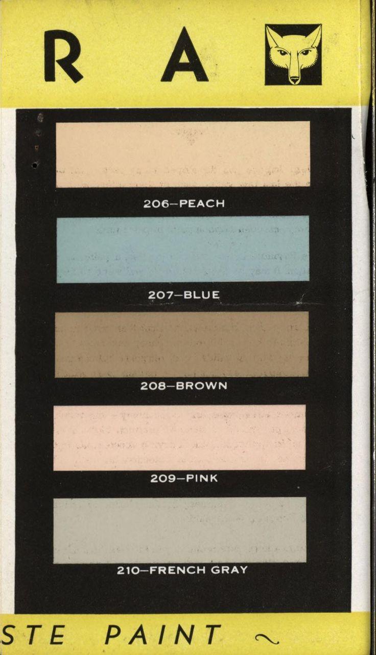 17 Best Images About 1920 39 S 1940 39 S Exterior Interior On Pinterest Paint Colors Paint Palettes