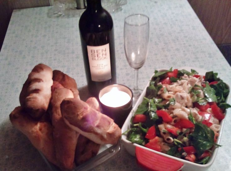 What could be better than home made baguettes and smoked fish & spinach pasta salad to go with that lovely red wine. this recipe will be featured in my next cookbook as a meal to share with friends
