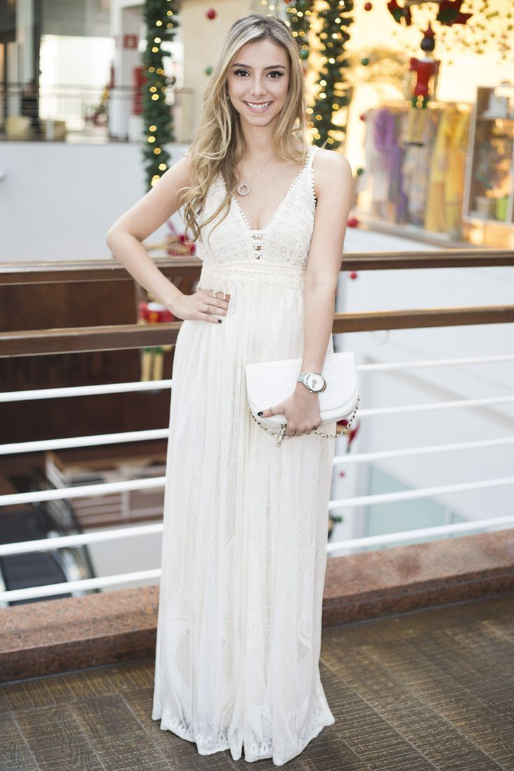 Resultado de imagem para vestido longo branco