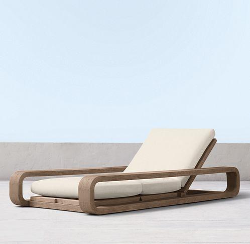 St. Barts Weathered Teak (Outdoor Furniture CG) | RH Modern