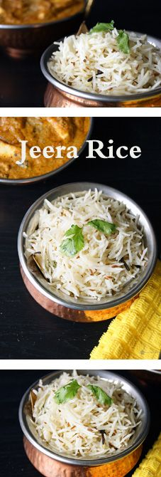 "#Desi #Indian_Recipe""Jeera/Zeera #Rice - A simple n super flavorful Indian rice. Jeera is known to improve digestion n heal minor stomach ailments. It is best when paired with a spicy Indian gravy."""