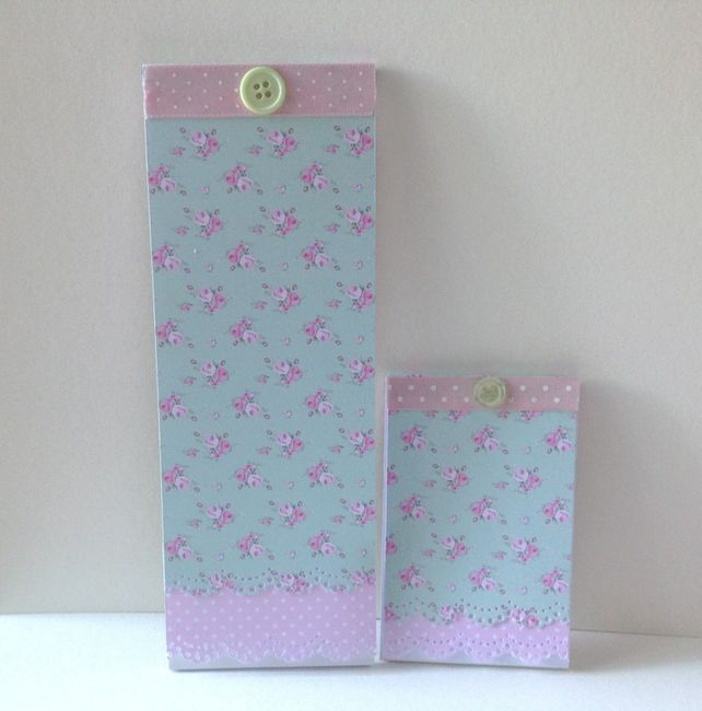 Shabby Chic Notebooks Set of Two,Handmade Decorated Notebooks £2.50