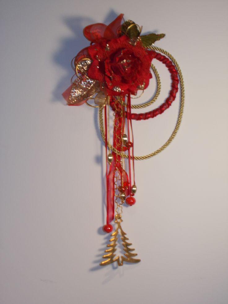 decorazione natalizia per porta d'ingresso o per decorare muri ,finestre ecc.lunghezza circa 40 cm.completamente fatte a mano e pezzi unici
