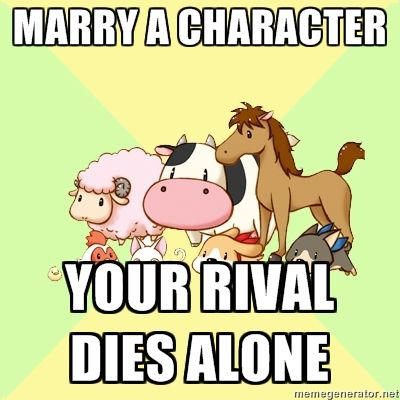 Damnit, I don't want to break the couples up in Rune Factory 2! Sorry Barrett, I'm stealing Dorothy. Poor Yue, always being the fallback wife.