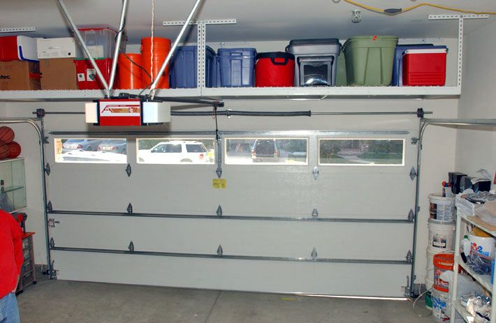 SafeRacks™ overhead garage shelving is available in 11 sizes with customized heights that can be adjusted to fit ANY space in your garage.