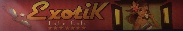 Worst logo. Exotik is a modern, chilled cafe, however it's logo might give us a very wrong impression about what place itself has to offer.