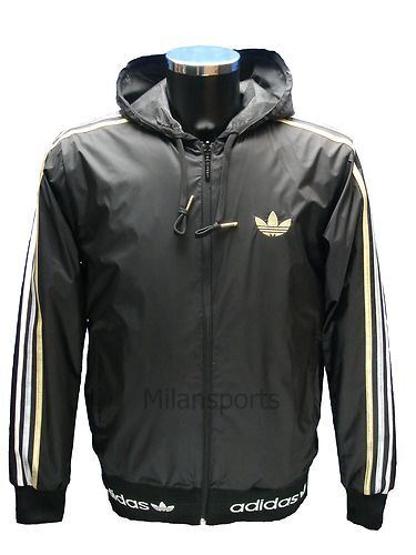 Adidas leather jacket mens