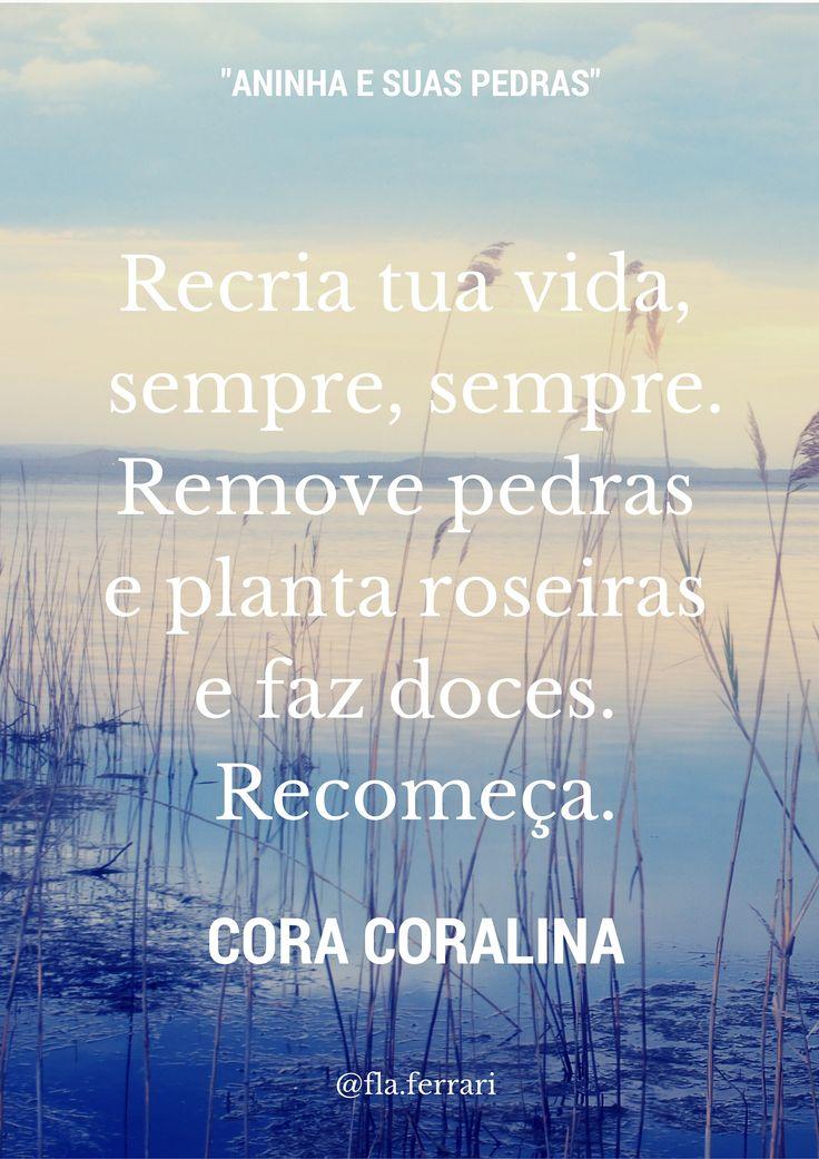 sempre é tempo de recomeçar : frase da semana #FlaviaFerrari #DECORACASAS…