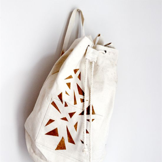 Find out how to make your own geometric backpack. You won't believe how easy…