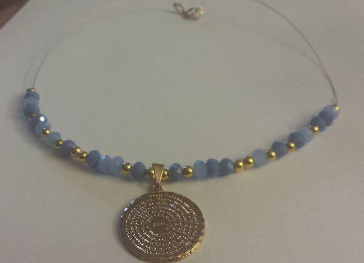 Padre Nuestro rondelle necklace,  collar Padre Nuestro y rondelas by NRoAccessories on Etsy