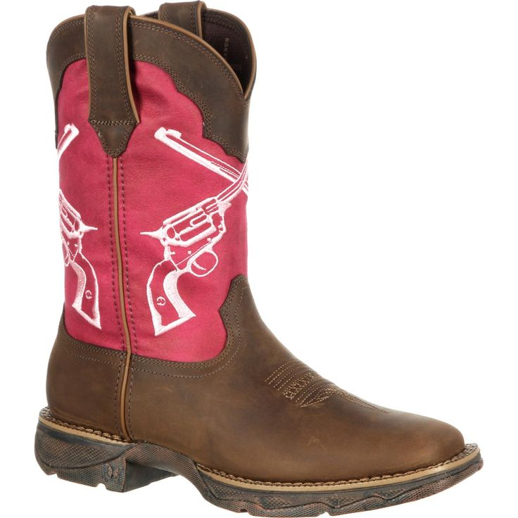 During Lady Rebel Crossed Guns Western Boot Drd0104