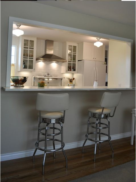 28 best breakfast bar ideas images on pinterest dining for Galley kitchen designs with breakfast bar