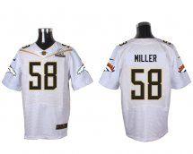 Denver Broncos #58 Von Miller White 2016 Pro Bowl Elite Jer