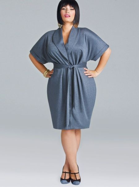 """Coby"" Ponte Button Front Dress - Heather Gray - Wear to Work - Monif C"