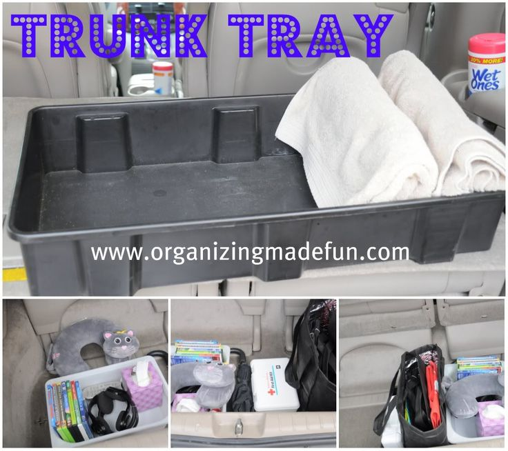 Organizing the van: Using a trunk tray in the back