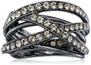 New! This morning we stumbled across this criss cross crystal ring! #krissylovesbling.com