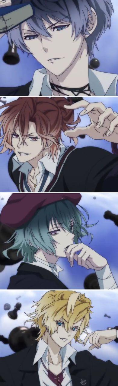 Ruki, Yuma, Azusa, Kou Mukami - Diabolik lovers more blood