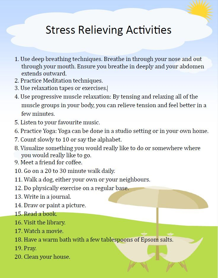 Stress reducing activity?