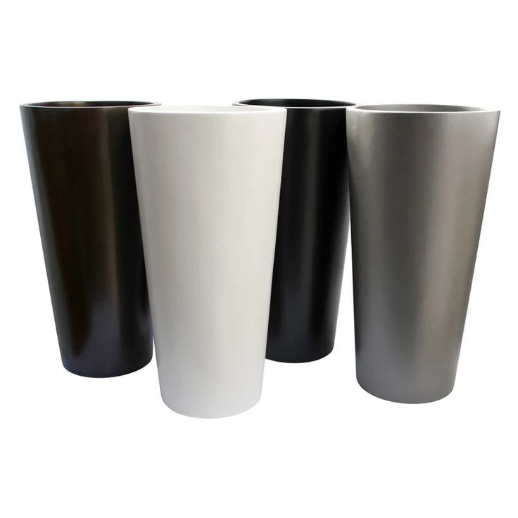 Root and Stock Sonoma Tall Cylinder Fiberglass Planter | from hayneedle.com