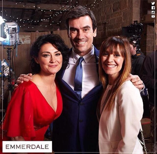"""Moira Barton/Dingle""  Natalie J. Robb ""Cain Dingle""  Jeff Hordley ""Rhona Goskirk""  Zoe Henry"