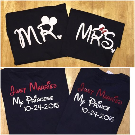 Disney Honeymoon shirts!!!! This is the cutest thing ever! I might have to get us these!