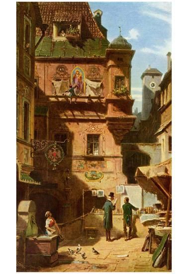 Carl Spitzweg (Art and Science) Art Poster Print Posters at AllPosters.com  # Art