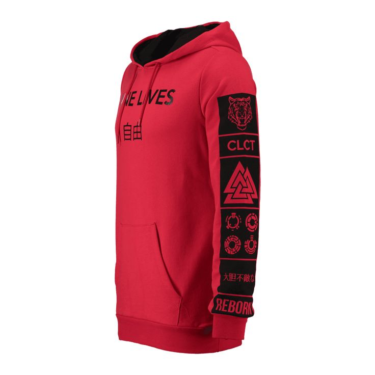 CoolCat hoodie voor mannen. De hoodie heeft een normale fit, capuchon met trekkoord en een 'Nine Lives' tekst. De hoodie heeft een kangoeroezak op de voorkant en een fotoprint op de mouwen. De hoodie heeft een elastieken boord aan de onderkant en onder aan de mouwen.   Materiaal: 100% katoen Stijl naam: CC Dninja Artikelcode: 1DF6267013
