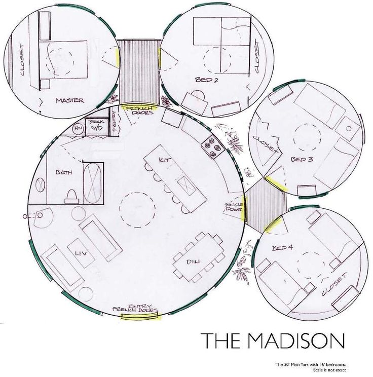 """Yurt Floor Plan - Madison""  Interesting."