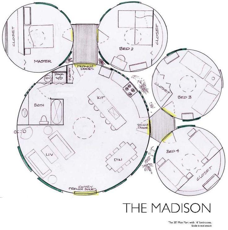 Floor Plans For Yurts: Yurt Floor Plan - Madison