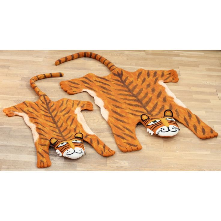 New Full Size Raj the Tiger Rug | Felt Animal Rugs | Sew Heart Felt