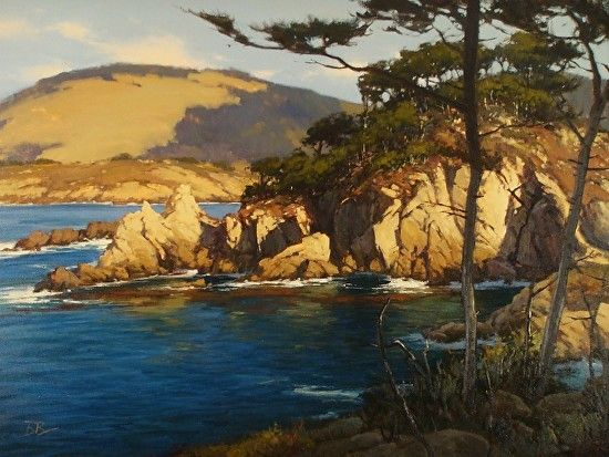 october blue fish cove pt lobos by brian blood oil
