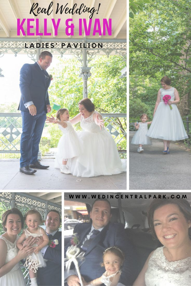 cuteness overload with Kelly and Ivan's elopement wedding in the Ladies' Pavilion, with their two year old daughter as their only guest, and photos at the Top of the Rock.