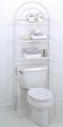 Features:  Freestanding Space Saver.  Fits Over All Standard Toilet Tanks.