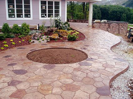 stamped concrete pool deck designs pools home decorating ideas