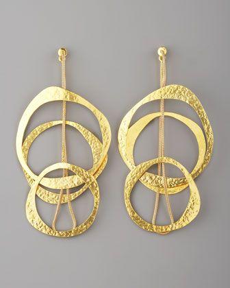 Multi-Circle Earrings by Herve Van Der Straeten at Neiman Marcus.