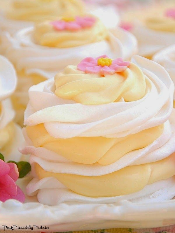 Pink Piccadilly Pastries: Lemon Meringue Stacks - An Easy Spring Dessert