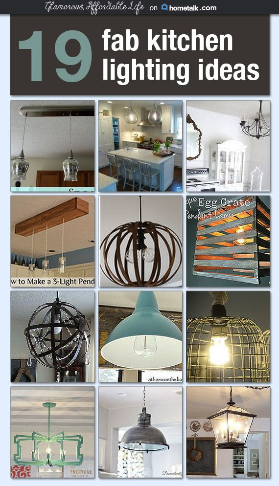 I would love for any one of these diy light fixtures to be for Diy kitchen light fixtures