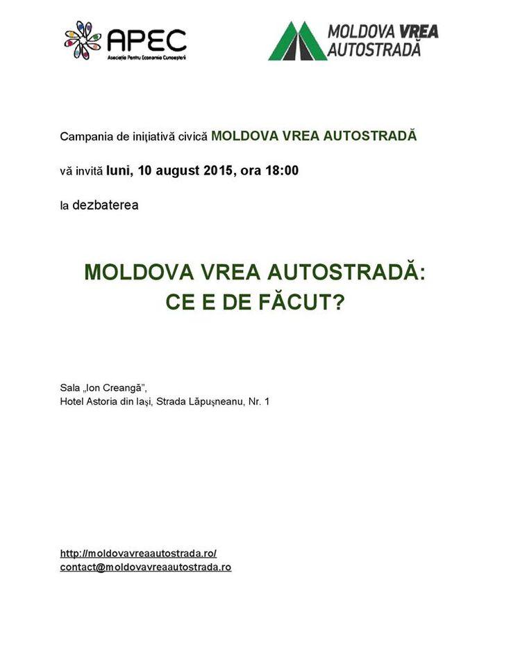 """Dezbaterea """"Moldova vrea Autostradă: Ce e de făcut?"""""""